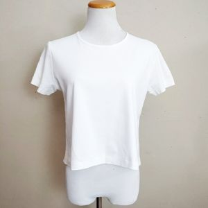 Rag & Bone White Back Stripe Short Sleeve Tee